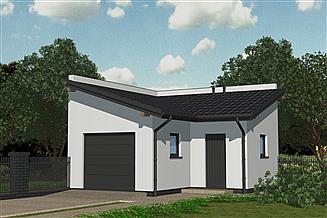 Projekt garażu APG 05