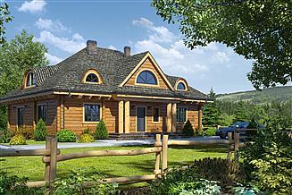 Projekt domu Chmielniki średnie dw