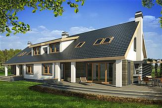 Projekt domu Rodzynek bliźniak 2B garaż