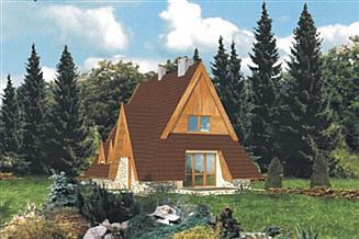 Projekt domu letniskowego WB-3333