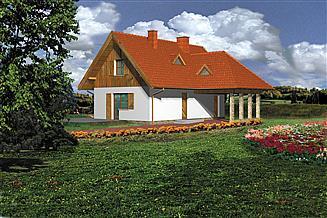 Projekt domu letniskowego WB-3342