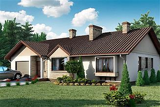 Projekt domu D18 - Kajetan wersja drewniana