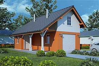 Projekt garażu G41 - Budynek garażowo - gospodarczy
