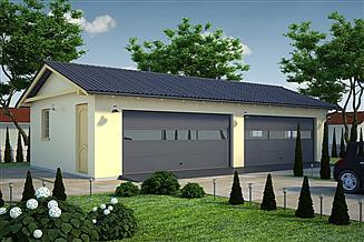 Projekt garażu G44 - Budynek garażowy