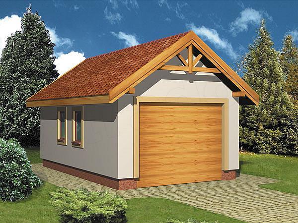 Крыша на гараж двускатная