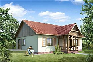 Projekt domu 108 DL drewniany