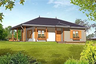 Projekt domu Z tarasami drewniany