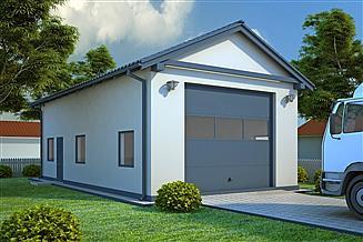 Projekt garażu G50 - Budynek garażowo - gospodarczy