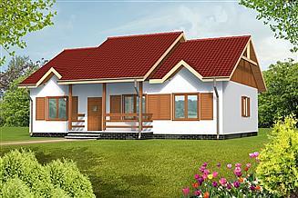 Projekt domu Anna drewniany