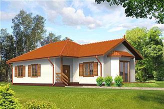 Projekt domu Justyna drewniany