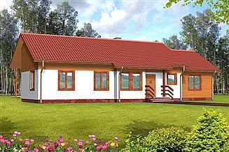Projekt domu Aniela drewniany
