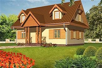 Projekt domu Barbara drewniany