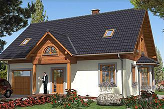 Projekt domu L-86 Dom szkieletowy