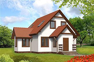 Projekt domu Hania drewniany