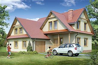 Projekt domu 169 DL drewniany