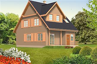 Projekt domu Alicja drewniany