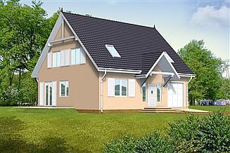 Projekt domu Ada drewniany