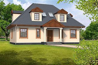 Projekt domu Amelia drewniany