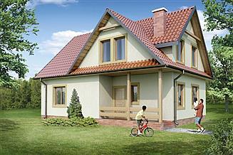 Projekt domu 129 DL drewniany