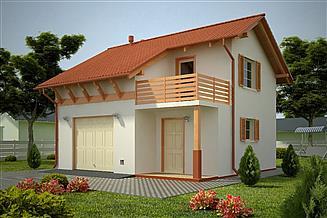 Projekt garażu G71 - Budynek garażowo - gospodarczy