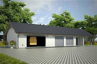 Projekt garażu G73 - Budynek garażowo - gospodarczy