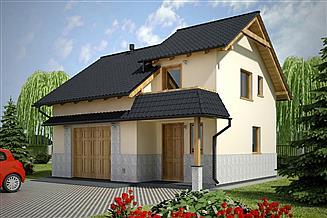 Projekt garażu G75 - Budynek garażowo - gospodarczy