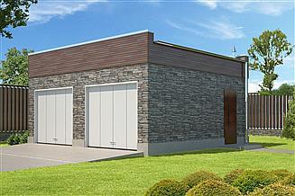 Projekt garażu Garaż G05