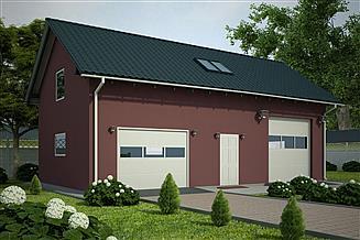 Projekt garażu G60 - Budynek garażowo - gospodarczy