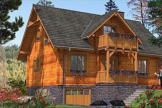 Projekt domu L-85 Dom z bali