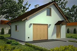 Projekt garażu G84 - Budynek garażowo - gospodarczy