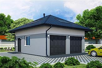 Projekt garażu G87 - Budynek garażowo - gospodarczy