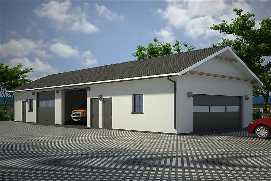 Projekt Garażu G89 Budynek Garażowo Gospodarczy 15188 M2