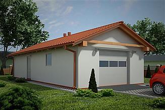 Projekt garażu G90 - Budynek garażowo - gospodarczy