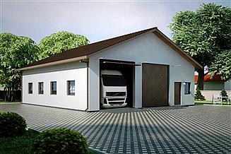 Projekt garażu G97 - Budynek garażowo - gospodarczy