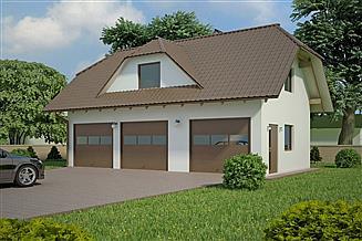 Projekt garażu G98 - Budynek garażowo - gospodarczy