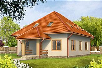 Projekt domu Ula drewniany