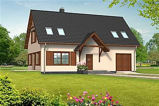 Projekt domu Beata drewniany