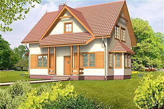 Projekt domu Zuzanna drewniany