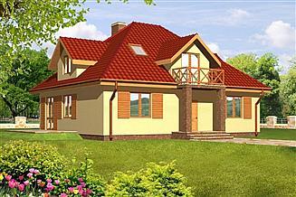 Projekt domu Irena drewniany