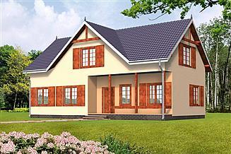 Projekt domu Katarzyna drewniany