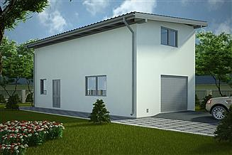 Projekt garażu G107 - Budynek garażowo - gospodarczy