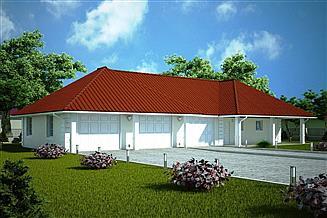 Projekt garażu G108 - Budynek garażowo - gospodarczy