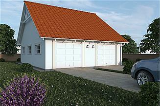Projekt garażu G110 - Budynek garażowo - gospodarczy