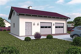 Projekt garażu G114 - Budynek garażowo - gospodarczy