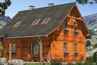 Projekt domu L-97 Dom z bali