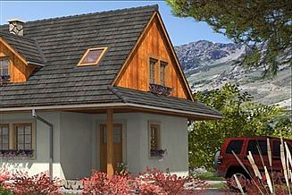 Projekt domu A-100 Dom szkieletowy