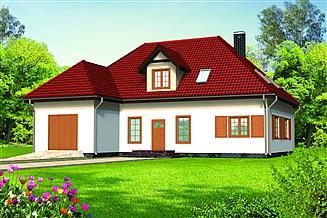 Projekt domu Aneta drewniany