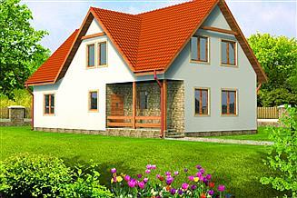Projekt domu Dorota drewniany