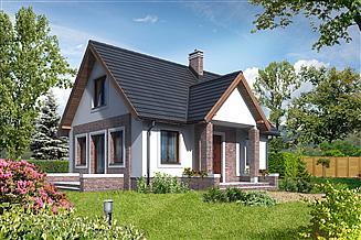 Projekt domu letniskowego Kaprun II LMW01a