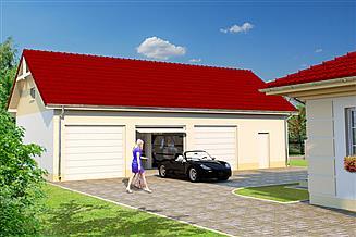 Projekt garażu Garaż G50